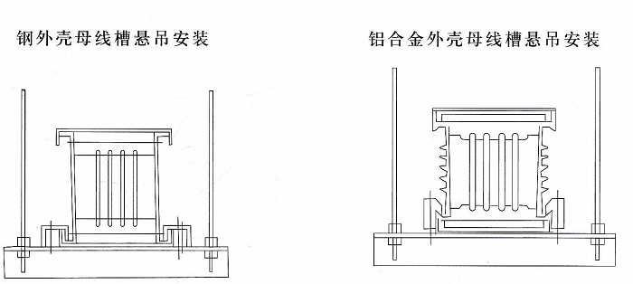 母线槽悬吊安装示意图