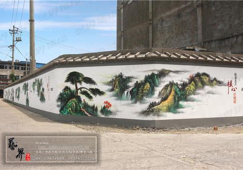 瑞安市塘下上金村文化墙彩绘