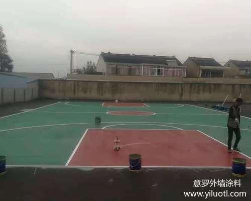 江阴市长泾交警中队硅pu篮球场施工案例
