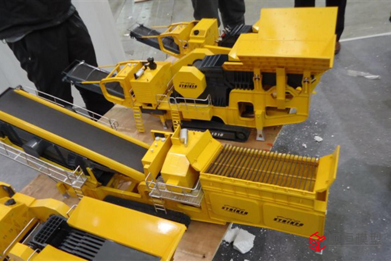 工業流水 礦石開采機械模型
