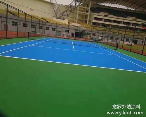 重庆市涪陵区体育场丙烯酸网球场施工案例