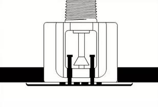 隐蔽式洒水喷头结构图