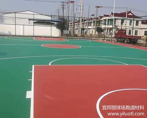 苏州相城硅PU蓝球场施工案例