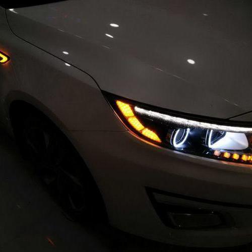 贵阳专业改灯起亚K5改装氙气灯总成 LED泪眼飞利浦氙气灯