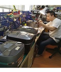 日本电饭煲误插220V电压烧坏了王师傅可以帮你修
