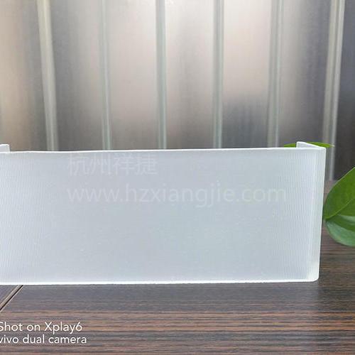 超白玻U型玻璃(超细条纹玉砂)