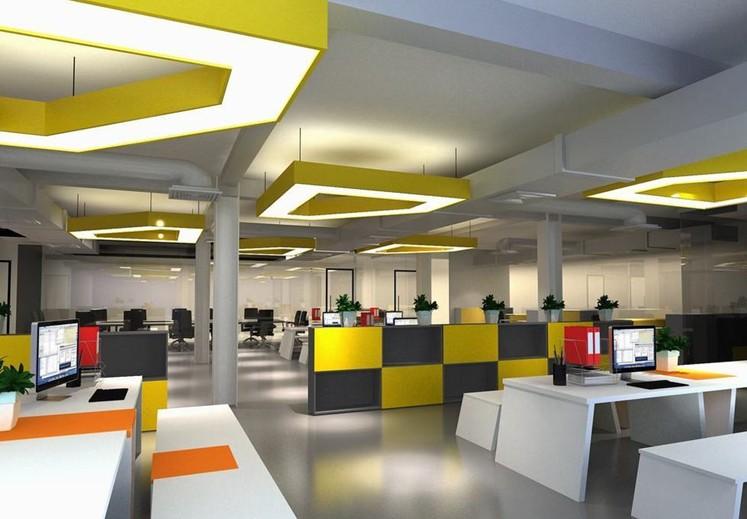「上海办公室装修」简洁实用是办公室装修的基本特点