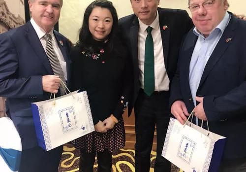 莱蒙国际再会爱尔兰前总统,以高品质商务旅行为准则!助力2019年中爱建交40周年!