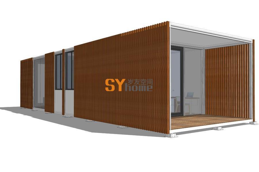 简盒系列1·极简大气的可变形可移动可拆卸可组合快装建筑