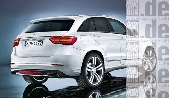 [海外车讯]新一代奔驰GLK效果图 明年发布