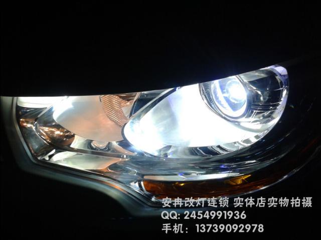 雪铁龙C4L改灯 雪铁龙C4L大灯改装 雪铁龙C4L改双光透镜 湘潭改灯