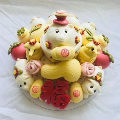 东楮岛胶东花饽饽—大寿桃