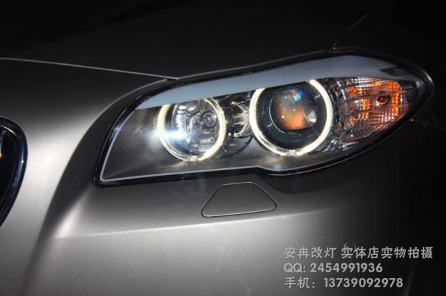 宝马5系大灯改装 改双光透镜 长沙改灯