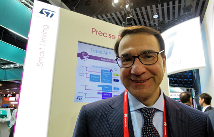 Marco Monti, STMicroelectronics' President, Automotive and Discrete Group (Photo: EE Times)