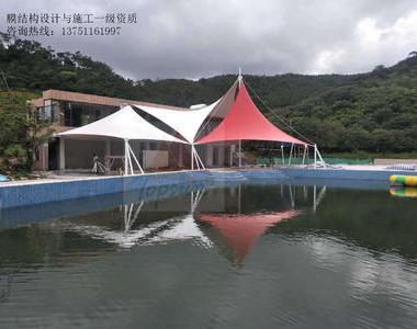 惠州金海湾度假区景观膜结构工程