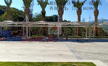缅甸邦康总部停车棚景观膜结构工程