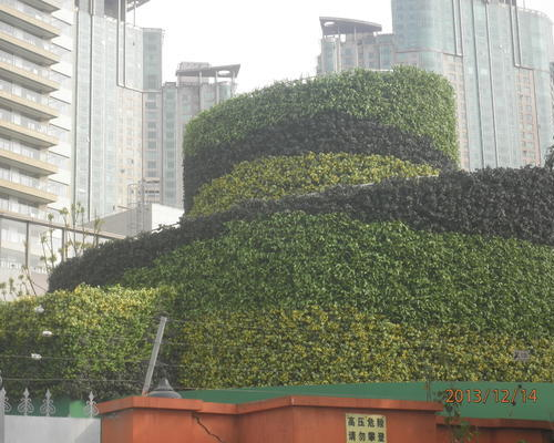 上海過江燃氣井綠化墻