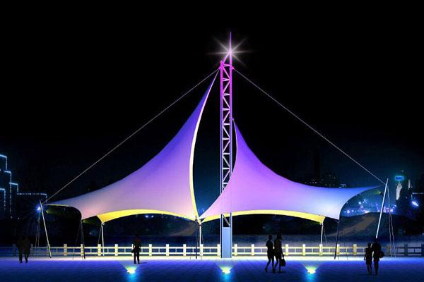 雨棚膜结构设计公司-图1
