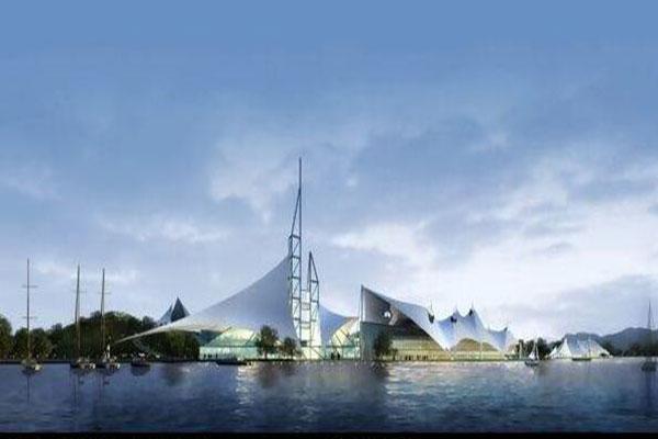 惠州雨棚膜结构设计-图1