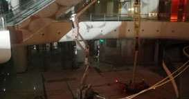 梯诺机械蜘蛛车服务浦东某新建商场