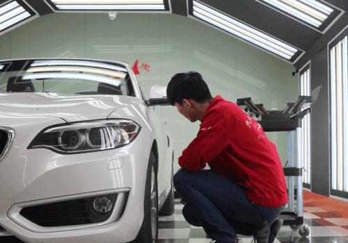 汽车凹陷修复的流程