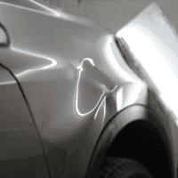 一汽豐田RAV4前葉子闆嚴重汽車凹陷修複