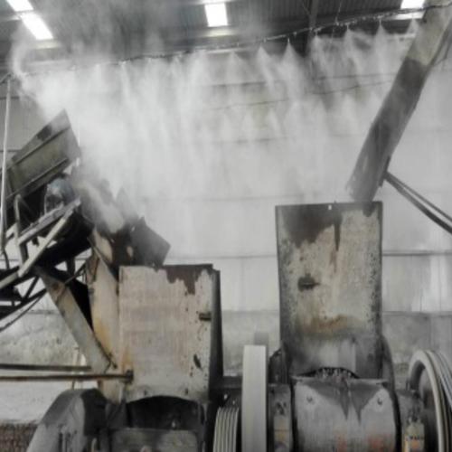 碎石机料口喷雾降尘