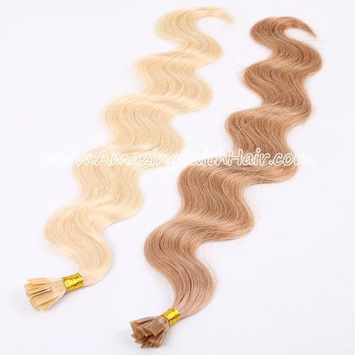 Flat Tip Keratin Hair Light Color Wave
