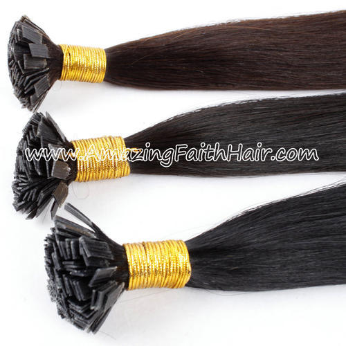 Flat Tip Keratin Hair Dark Colors