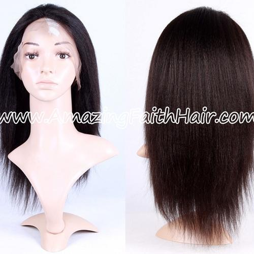 Full Lace Wig Natural Color Yaki