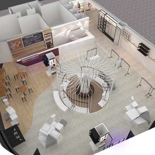 服装店设计,效果图,商场专柜设计,品质服装店设计