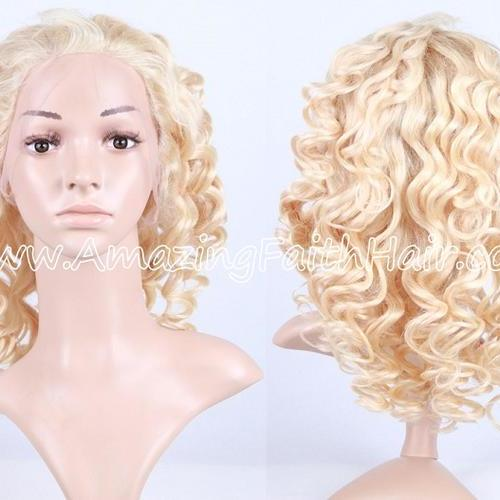 Lace Front Wig Blonde Curly