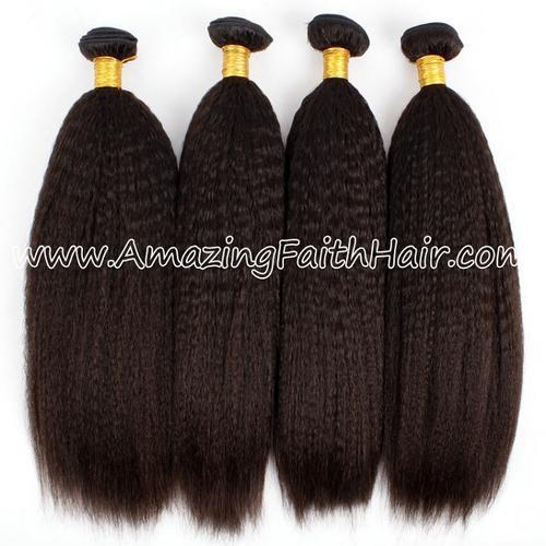 Remy Hair Weft Double Drawn Yaki
