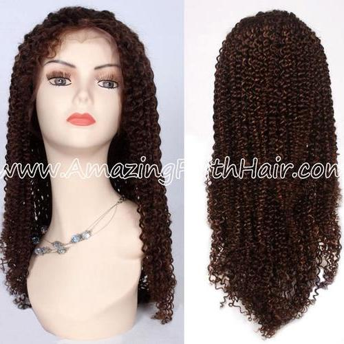 Lace Front Wig Mix Colors Curly