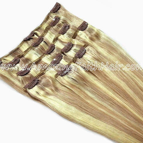 Clip-In Hair Blonde Light Brown P Colors