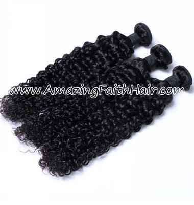 Remy Hair Weft Double Drawn Kinky Curl