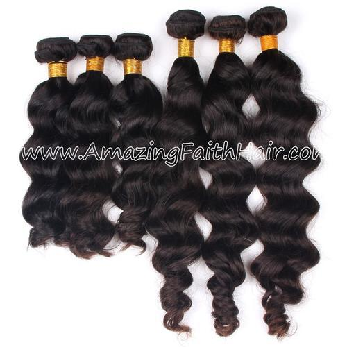 Remy Hair Weft Double Drawn Wave Curl