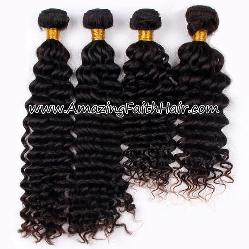 Remy Hair Weft Double Drawn Deep Wave