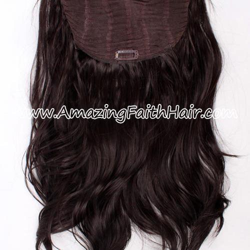 Clip-In Half Wig Black