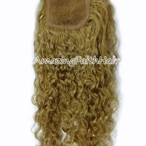Lace Closure Blonde Curly