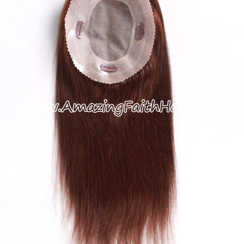 Clip-On Silk Closure 4Clips Brown