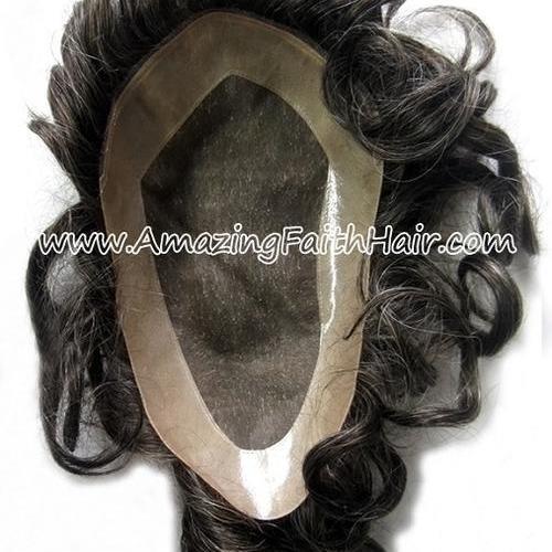 Toupee Men Wig Black White