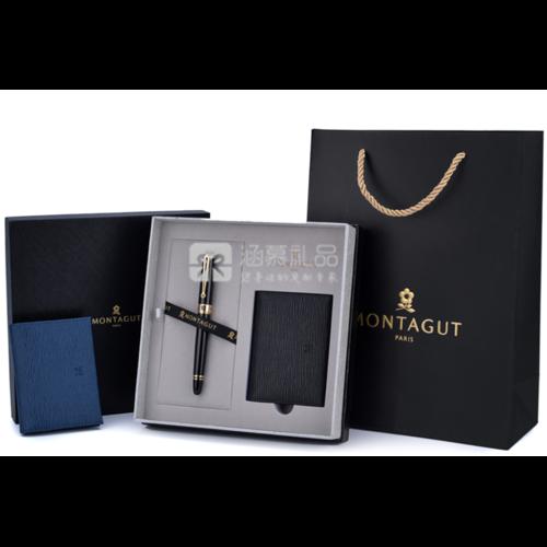 梦特娇(MONTAGUT) 梦特娇钢笔名片夹套装礼盒