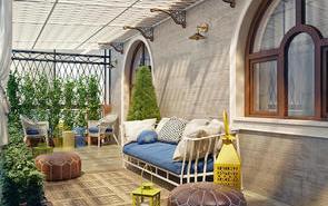 有遮阳棚的露台:12种超惬意的美丽设计