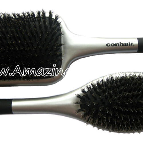 Pure Boar Bristle Hair Brushes Silver