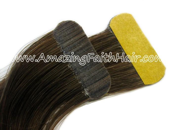 Tape-on PU Weft Hair Brown AFH.jpg