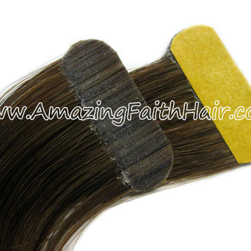 Tape-on PU Weft Hair Brown