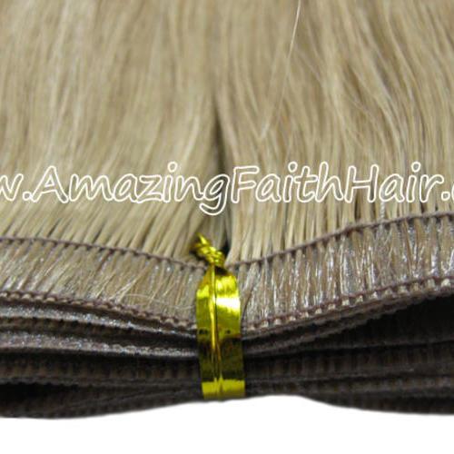 Flat Skin Weft Hair Dark Blonde