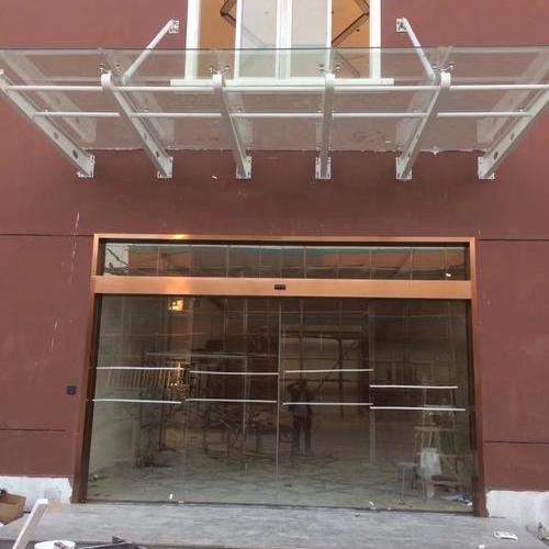 钢结构雨棚及自动感应门