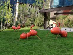 大华锦绣华城示范区批量雕塑小品
